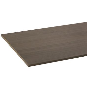 Panneau de meuble CanDo pefc avec couvre-chant sur 2 longs côtés 18 mm 250x60 cm  chêne vert verni