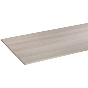 Panneau de meuble CanDo pefc avec couvre-chant sur 2 longs côtés 18 mm 250x60 cm  chêne blanc