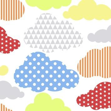 Vliesbehang Wolken multicolour 100113