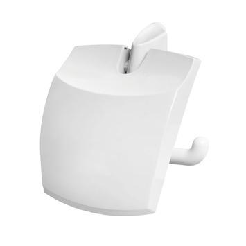OK wc rolhouder met klep wit