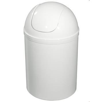 Poubelle de salle de bain OK blanc