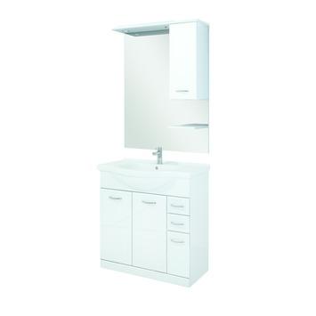 Meuble de salle de bains Aquaplus 80 cm blanc