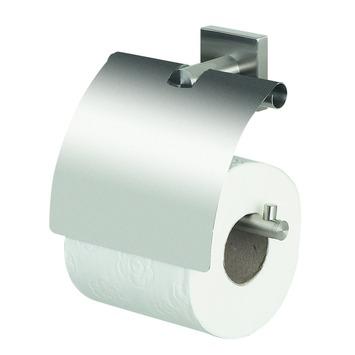 Spirella Nyo wc rolhouder met klep inox