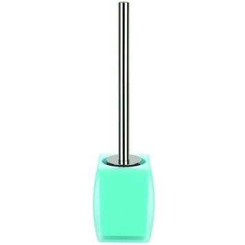Spirella Freddo wc-borstelset licht blauw vrijstaand