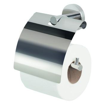 Spirella Nyo-two wc rolhouder met klep glanzend