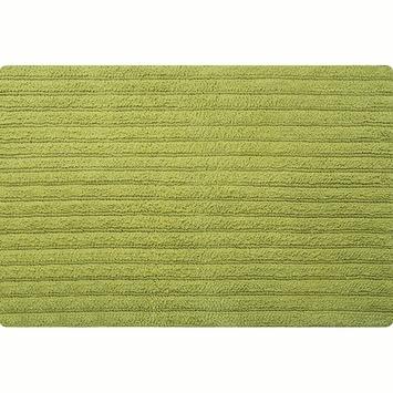 Spirella Benoa badmat groen katoen 60x90 cm