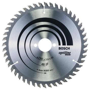 Bosch Professional cirkelzaagblad optiline wood 190 x 30 x 2,6 mm, 48 1st