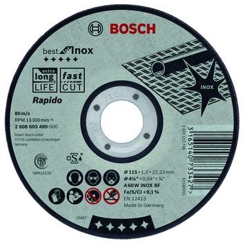 Bosch Professional doorslijpschijf recht best for inox - rapido a 60 w inox bf, 125 mm, 22,23 mm, 1,0 mm 1st