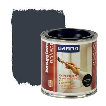 GAMMA lak extra dekkend hoogglans marine blauw 250 ml