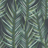 Gekleurd vliesbehang 10 m x 52 cm decor 100558 palmen blauw/groen