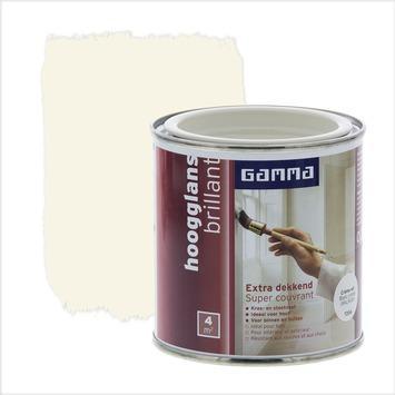 GAMMA lak extra dekkend hoogglans RAL9001 crème wit 250 ml