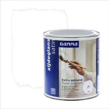 GAMMA lak extra dekkend zijdeglans wit 750 ml