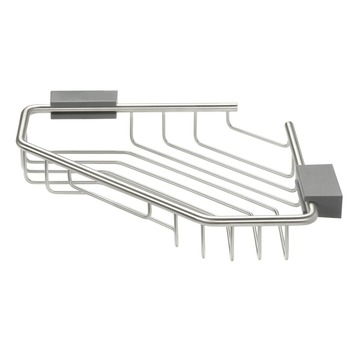 Panier d'angle Cliqit Tiger gris inox