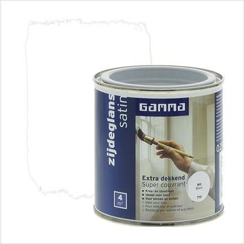GAMMA Extra Dekkend lak zijdeglans wit 250 ml
