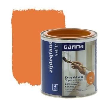 GAMMA lak extra dekkend zijdeglans oranje 250 ml