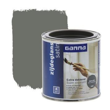 GAMMA lak extra dekkend zijdeglans warm grijs 250 ml