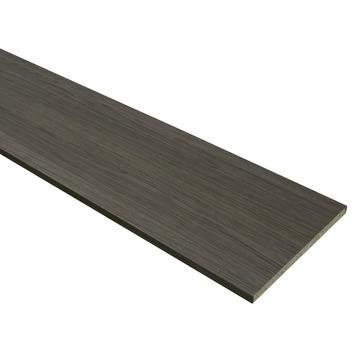 Meubelpaneel donker eiken 2-zijdige abs afwerkband 240x60 cm 18 mm
