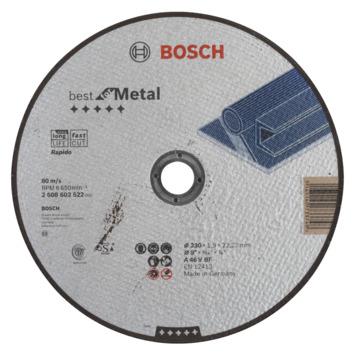 Bosch Professional doorslijpschijf recht best for metal - rapido a 46 v bf, 230 mm, 22,23 mm, 1,9 mm 1st