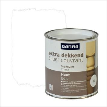 GAMMA primer hout extra dekkend wit 750 ml