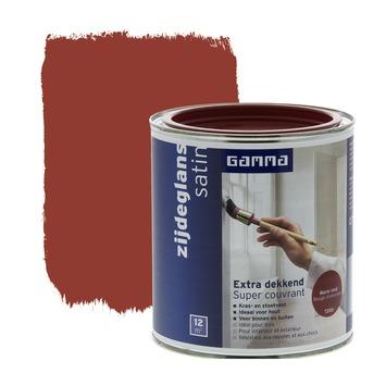 GAMMA lak extra dekkend zijdeglans warm rood 750 ml