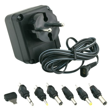 Q-link AC/DC adapter 300 mA incl. 6 connectoren