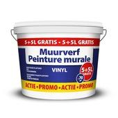 Promo muurverf vinyl 5+5 L gratis