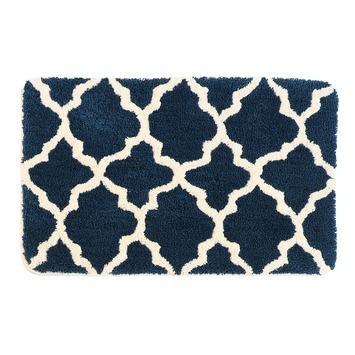 Alhambra badmat donker blauw 60x90 cm