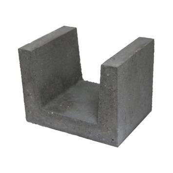 Profilé U en béton 30x40x30 cm gris palette