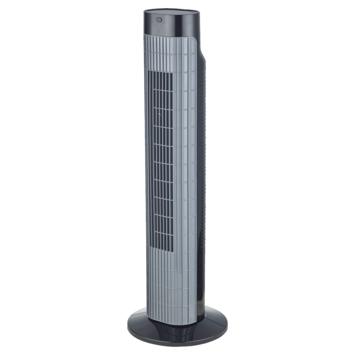 Zuilventilator Canberra 24 cm met timerfunctie zwart grijs
