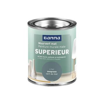Peinture murale GAMMA SUPERIEUR mat 100 ml vert de mer