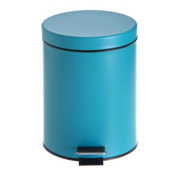 Poubelle de salle de bain Street bleu 5 litres