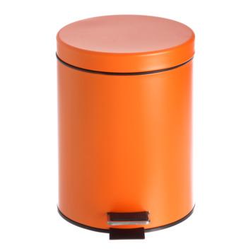 Poubelle de salle de bain Street orange 5 litres