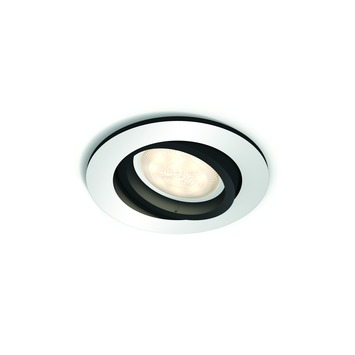 Spot rond Milliskin Philips Hue 5,5 W dimmable argent