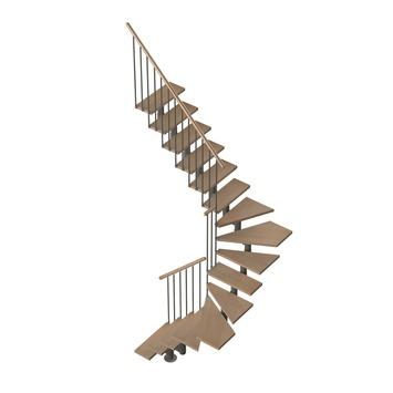 Sogem extra kwartslag links voor trap Eureka