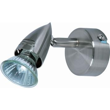OK wandspot GU10 exclusief lamp max. 50 W geborsteld staal