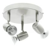 Support 3 spots Rimini GAMMA 3x GU10 max. 35W aluminium ampoules non fournies