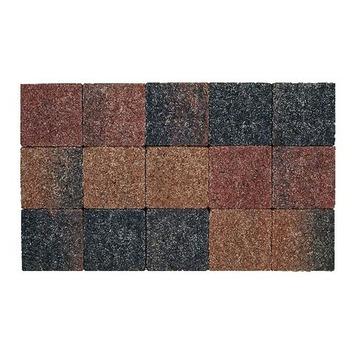 Kasseien Beton Getrommeld Bruin/Zwart 15x15x6 cm - 120 Stuks / 2,76 m2