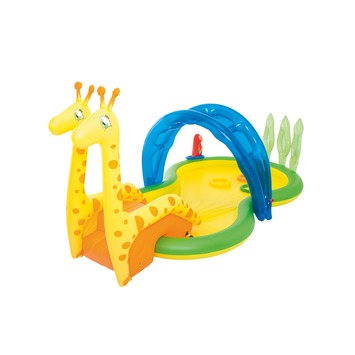 Piscine girafe toboggan