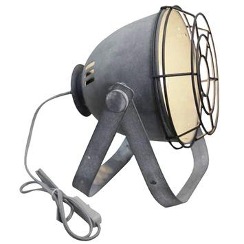 Brilliant tafellamp Bo met rooster E27 60 W betongrijs exclusief lamp