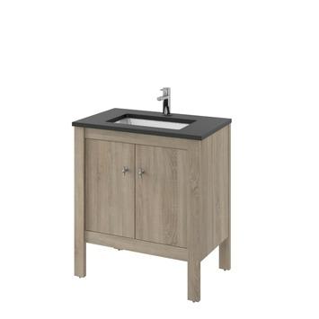 heros badkamermeubel staand met wastafel rechthoekig grijs