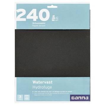 GAMMA schuurpapier watervast K240 3 stuks