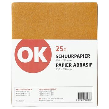 OK assortiment schuurpapier grof, middelmatig en fijn
