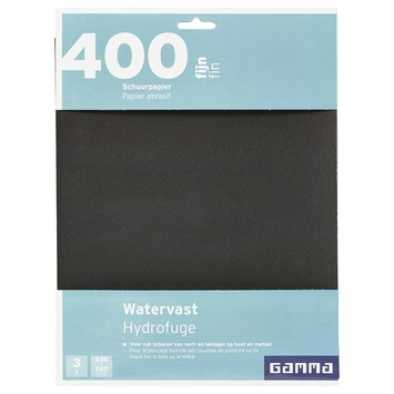 GAMMA schuurpapier watervast K400 3 stuks