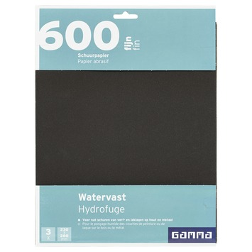 GAMMA schuurpapier watervast K600