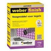 Weber voegmiddel lichtgrijs 4 kg