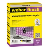 Mortier de jointoyage Weber 2 kg gris clair
