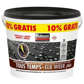 Revêtement caoutchouc pour toits plats Tous temps Rubson Plus 5 L + 10% noir