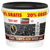 Revêtement caoutchouc pour toits plats Tous temps Rubson Plus 10 L + 20% noir