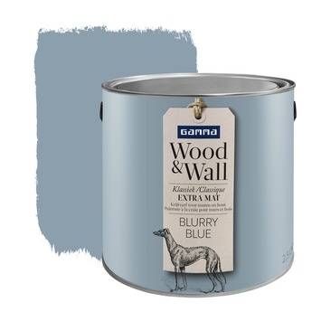 Peinture à la craie Wood&Wall 2,5 L blurry blue