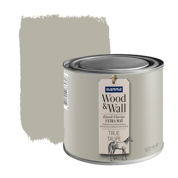 Wood&Wall krijtverf true taupe 500 ml